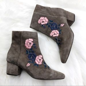 Steve Madden Embroidered Ankle Boots Booties 10